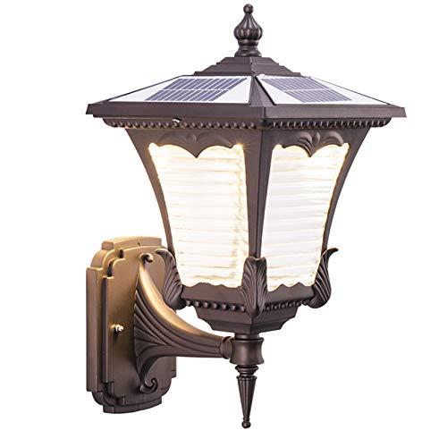 WYDM Aplique De Pared, Lámpara De Pared Impermeable para Exteriores, Luz Solar De Pared, Interruptor De Sensor De Fuente De Luz, LED