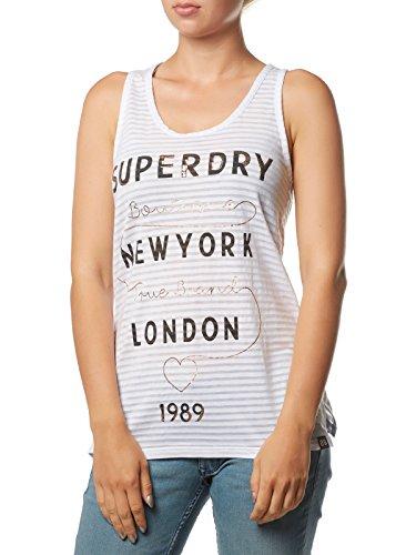Superdry Tank Dames True Brand Stripe Entry Vest Eclipse Navy Donkerblauw