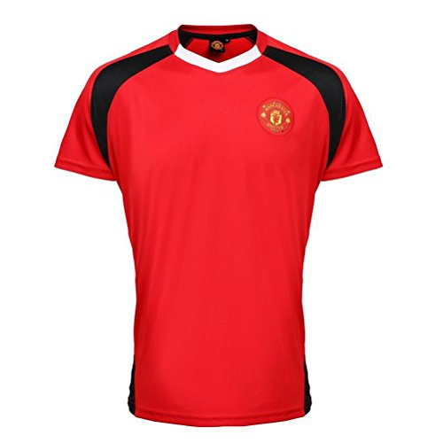 Manchester United FC Official Erwachsene Performance Football T-shirt (X-Large)