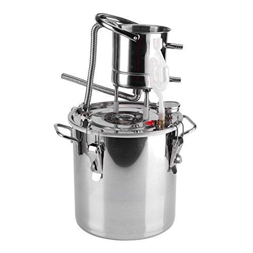 10   20L DIY CASA Alambique Destilador Destilación Still Enfriador Caldera Termómetro Vino Alcohol Agua Esencial Aceite Preparación Kit (10L)