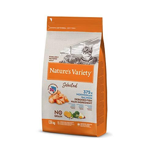 Nature's Variety Selected - Pienso para gatos esterilizados con salmón noruego sin espinas 1,25 Kg