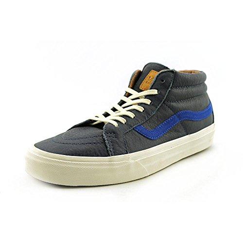 Vans SK8 Mid Mens Blauw Lederen Sneakers Schoenen Maat UK 8.5