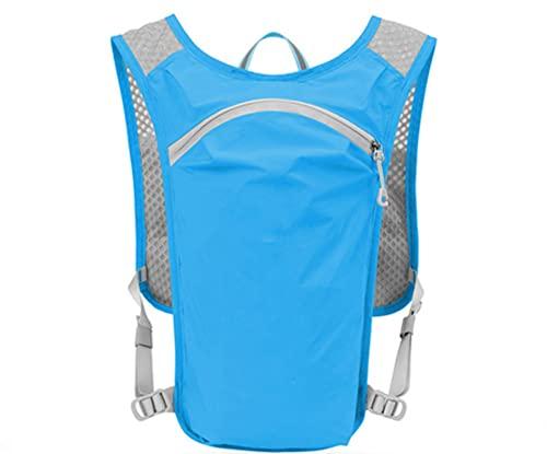 DTKJ Correr agua mochila ciclismo bolsa hidratación hombres deportes impermeable montar agua luz bolsillo, Hombre, Bolsa azul