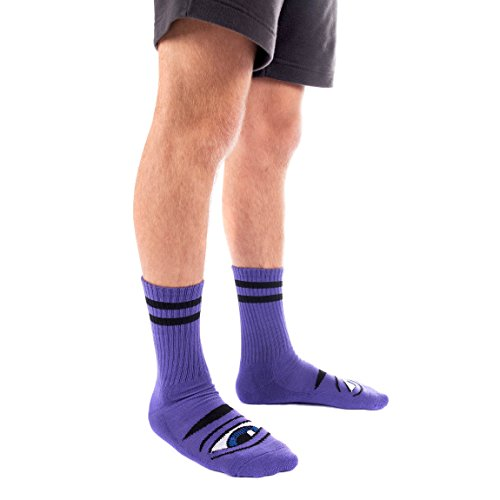 Toy Machine Men's Calf Socks Purple Purple by Toy Machine