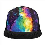 ZORIN 3D piatto Bill berretto da baseball arcobaleno gatto farfalla colorato Snapback Outdoor Trucker cappello