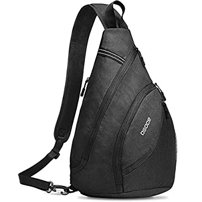 OSOCE Casual Simple Chest Bag - Medium Chest Shoulder Crossbody Bag for Men & Women (Black)