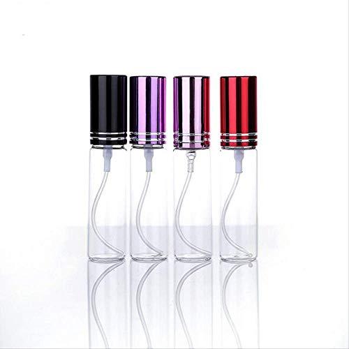 Pulverizador Botes Viaje Botellas De Perfume De Aerosol Portátiles De Vidrio Recargables Atomizador Viaje Contenedor De Muestra De Perfume Vacío 5ml Púrpura