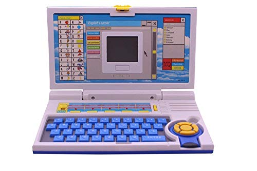 FlexZone Smart English Learning Educational Laptop Toy ABC Learning Computer for 3 Year Old Boys Girls. (Laptop Smart English blue)
