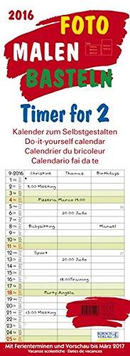 Foto-Malen-Basteln Timer for 2 2016: Kalender zum Selbstgestalten