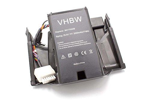 vhbw Akku passend für Robomow Premium RC302, RC304, RC304u, RC306, RC308, RC308u, RC312, RC312u ersetzt BAT7000B, MRK7005A- (Li-Ion, 3000mAh, 25.6V)