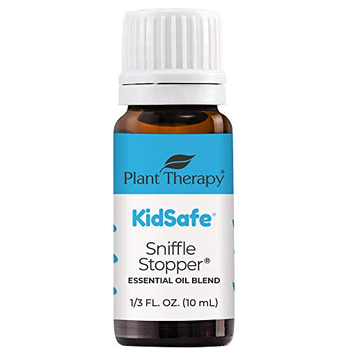 Plant Therapy KidSafe Sniffle Stopper Essential Oil Blend 10 mL (1/3 oz) Respiratory Support Blend 100% Pure, Undiluted, Natural Aromatherapy, Therapeutic Grade