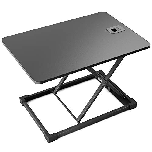 1home Single Top Standing Desk Ergonomic Converter Sit to Stand Desk Computer Workstation Home&Office Use Tabletop Monitor Riser Height Adjustable Black