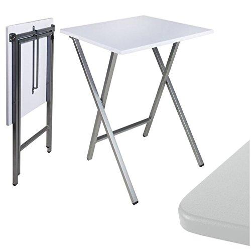 Mesa cuadrada plegable blanca
