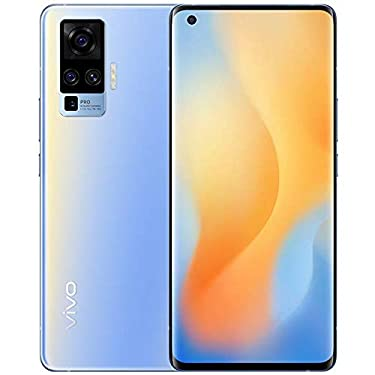Original X50 Pro(V I V O) 5G Mobile 8G+256GB 60X Zoom 48MP Mainly Camera AMOLED 90HZ NFC Snapdragon 765G 33W Fast Charge 4315mAh Smartphone Support Google by-(Real Star Technology) (Blue 8+256)