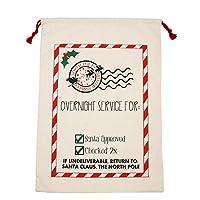 クリスマス ギフトバッグ 巾着袋 キャンバス ドローストリン プレゼント袋 サンタ ラッピング袋 お菓子入れ 大きめ キッズプレゼント 収納 Cutelove