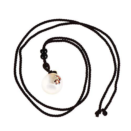 Toddmomy Collar de Dientes Perdidos de Cristal Joyas de Urna de Cremación Recuerdo Sostenedor en Memoria de Ceniza Collar de Buey del Zodiaco Colgante de Lanugo para Niños Regalos para