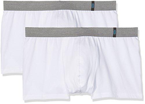 Schiesser Herren Boxershorts  95/5 Shorts, 2er Pack, Weiß (Weiss 100), M (Herstellergröße: 5)