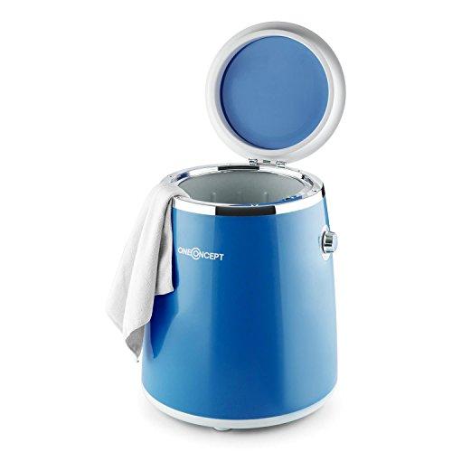 Oneconcept Ecowash-Pico - Mini Lavadora Portable, Lavadora de Camping, Función Centrifugado, Capacidad: 3,5 kg, Potencia: 380 W, Temporizador, Uso Sencillo, Recogecable, Asa Transporte, Azul