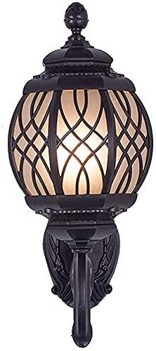 Lámpara de pared a prueba de polvo a prueba de agu E27 Luz de pared al aire libre, red eléctrica impermeabilizable Folleta de la pared Linterna de aluminio Lámpara de jardín vintage para la campaña Pa