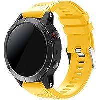 SUPREMO Garmin Fenix 5 Watch Band, ajuste rápido correa de reloj de silicona suave para Garmin Fenix 5 GPS Smart Watch Strap
