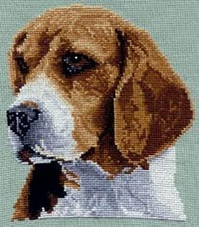 Pegasus Originals Beagle Large Head Counted Cross Stitch Kit