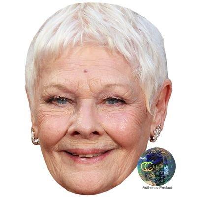 Celebrity Cutouts Judi Dench Maske aus Karton