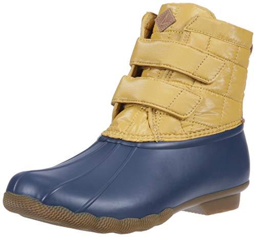 Sperry Women's Saltwater Jetty Snow Boot, Yellow/Navy, 9 M US