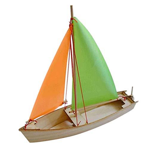 SM SunniMix Holz 3D DIY Segelboot Boot Segelschiff Modell Bausatz Modellbausatz Holzpuzzle Set