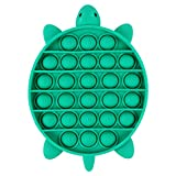 EVERMARKET Push Pop Bubbles Fidget Sensory Toy,Bubble Popper Stress Reliever Silicone Squeeze Toy Anti-Anxiety Tools,a Great Way to Relax and Keep Busy for Kids and Adults(Turtle,Green)