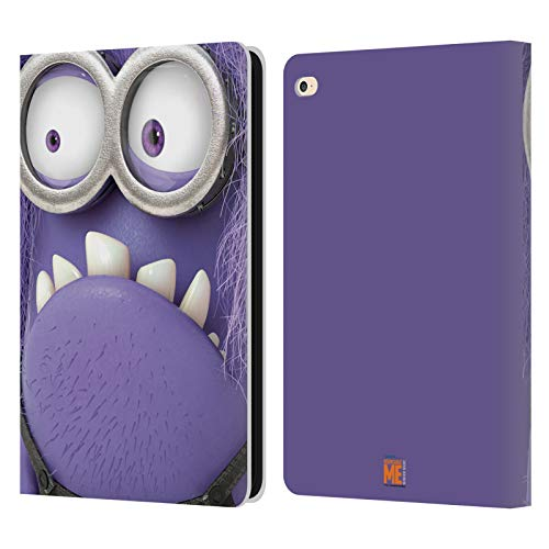 Head Case Designs Oficial Despicable Me Mal 2 Esbirros de Cara Completa Carcasa de Cuero Tipo Libro Compatible con Apple iPad Air 2 (2014)