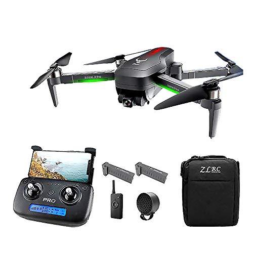 SLCE Drone GPS Telecamera 4K HD Drone Professionale, con Testa Meccanica A 3 Assi con Superstabilità, con Altoparlante, 5G WiFi 800M Video Live, Ritorno Home, Seguimi, per I Principianti