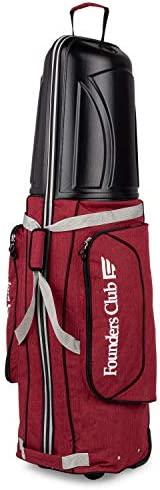 Founders Club Golf Travel Cover Luggage for Golf Clubs with ABS Hard Shell Top Travel Bag Wine product image