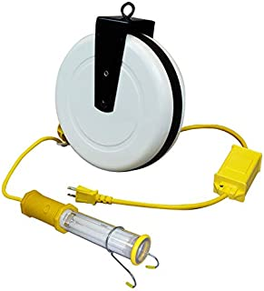 Saf-T-Lite 3613-4000 Stubby II Work Light with Switch & in-Line Ballast, 40ft Reel