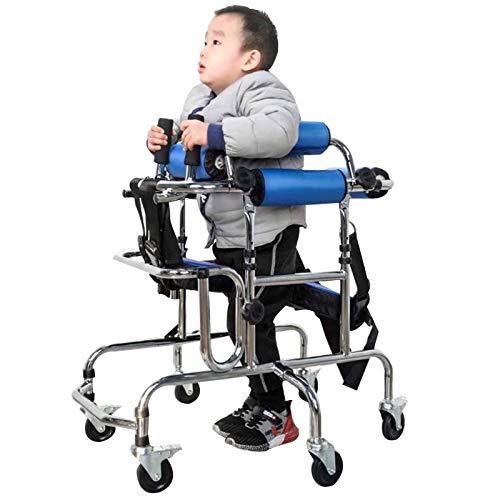 WANGXNCase Andador para Ancianos 6 Ruedas,Andador para niños con parálisis Cerebral, Andador Ligero Andador de Movilidad con 6 Ruedas y Equipo de Movilidad para el Asiento