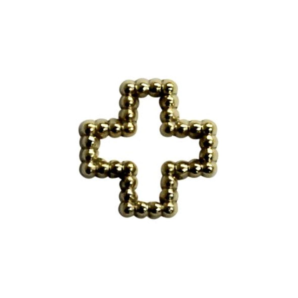 特徴づける弾丸はげプリティーネイル ネイルアートパーツ ブリオンクロスM ゴールド 12個