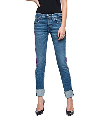 Replay Damen HETER Jeans, Blau (Medium Blue 9), No Aplica/L32 (Herstellergröße: 27)