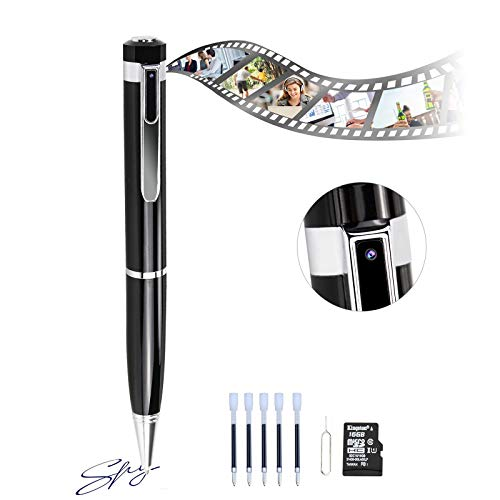 Hidden Spy Pen Camera HD 1080P Portable Digital Video Recorder with Photo Taking, USB Port Covert Cam, Mini DV Cam Multifunction Ink Pen Camcorder for Conference and Education(with 16 GB Memory Card)