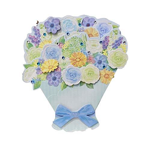 Zoo-yilHKA Carte Noel, Mousseux Fleurs Pop-up Carte, Creative Blessing Carte décoration.