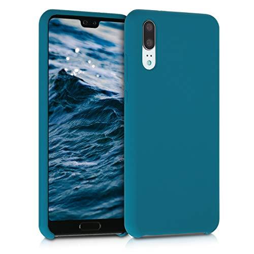 kwmobile Funda Compatible con Huawei P20 - Carcasa de TPU para móvil - Cover Trasero en Turquesa Mate