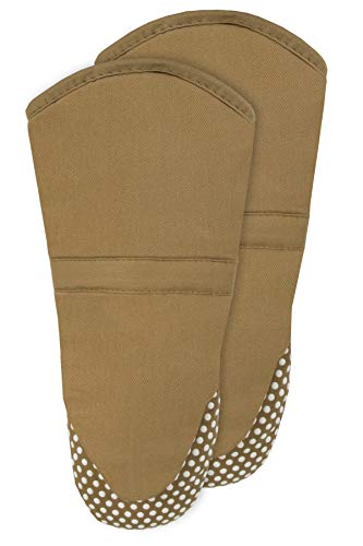 RITZ Royale Silicone Oven Mitt, 2-Pack, Mocha