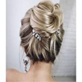 Unicra Bride Silver Wedding Hair Comb Rhinestone Bridal Headpiece Sparkly Crystal Hair Accessorie for Women and Girls
