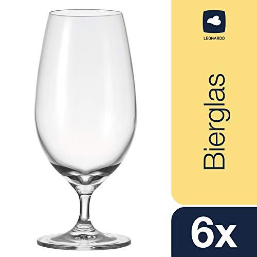 Leonardo Bierglas-Set Cheers, Biergläser-Set in klassischem Stil, spülmaschinenfeste Biertulpe für 450-ml, 6-teilig, 061637