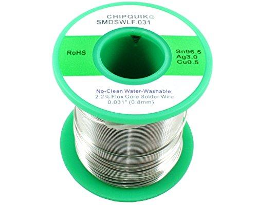 LF Solder Wire 96.5 3 0.5 Tin Silver Copper no-clean .031 1 2lb