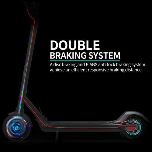 """Hiboy MAX Electric Scooter - 350W Motor 8.5"""" Solid Tires Up to 27 Km Range & 30 Km/h One-Step Fold, Adult Electric Scooter for Commute and Travel"""