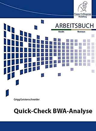 Arbeitsbuch Quick-Check BWA-Analyse