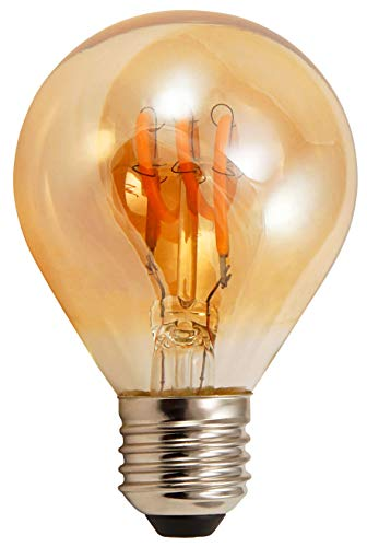 McShine - LED Filament Leuchtmittel Tropfenlampe | RETRO | E27, 2W, 150 lm, warmweiß, 2200K, goldenes Glas