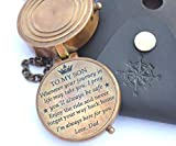 RIRHTAJUS Dad to Son Compass – to My Son Love Dad – Father to Son Gifts - Graduation Day Gifts for Son - Son Birthday Gifts - Confirmation Gifts for Son