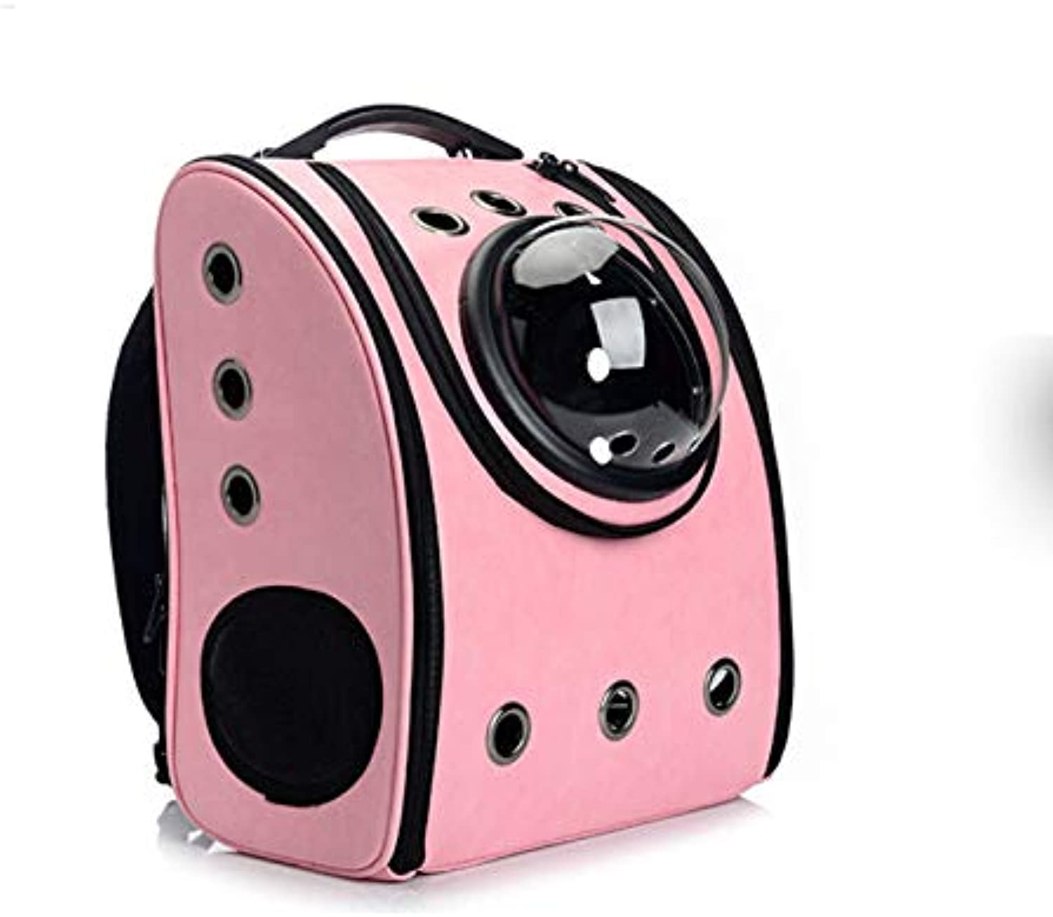 Jizhen Pet Out Carrying Bag Pet Space Capsule Backpack Breathable Airline Approved Cat And Dog Moving BedM3222  39cm (color   PINK)