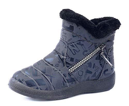 Hezeisoar Niños Botas de Nieve Invierno Calientes Zapatos Niña Niño Forradas Zapatillas...