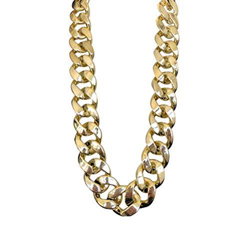 VALICLUD KarnevalsbedarfUnisex Simple Imitation Golden Halskette Acryl Punk Rock Stil Personalisierte Halsschmuck Ornament